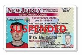 NJ drivers license suspended after notice of scheduled suspension